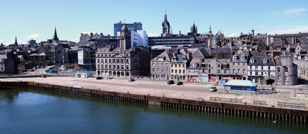 Aberdeen is located in the Highlands region of Scotland, United Kingdom.