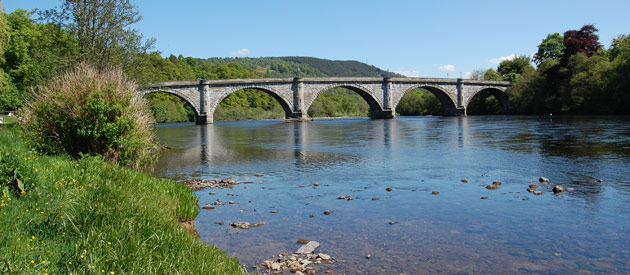 Dunkeld​​​​ is located in the Highland region of Scotland, United Kingdom, and is situated on the River Tay.